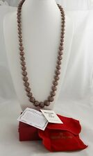 "36"" KJL KENNETH JAY LANE QVC BRONZE SPARKLE BEAD BALL NECKLACE BOX TAG & PAPERS"