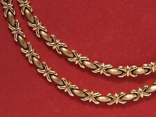 Collar De Oro Amarillo 9ct X