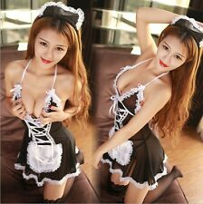 Women's Sexy Lingerie Cosplay Lingerie Costume Maid Uniform Sleepwear black S  L