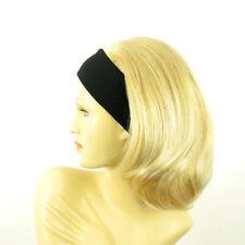 Perruque avec bandeau blond doré méché blond très clair ref MADY en 24BT613