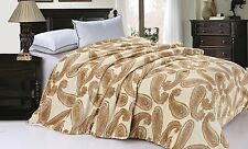 BNF Home Nature Cheetah Cow Leopard Zebra Faux Fur Sherpa Backing Bed Blanket