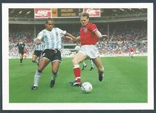 BARRATT-MATCH MAGAZINE-1992-POSTCARD-ENGLAND V ARGENTINA-STUART PEARCE-FOREST