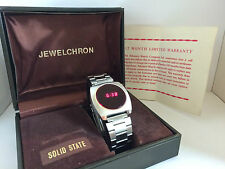 Advance Jewelchron mod.6F1Y Solid State  LCD LED Rare Collectible Watch