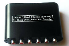 Digital to 5.1/ 2.1 CH Analog Audio Decoder SPDIF Optical Coaxial Dolby AC3 DTS