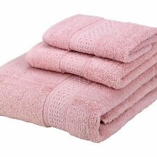 Hot 3 Piece Bath Washcloths Towels Set Soft  Cotton 500 Gram 12 colors