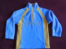 Adidas Denver Nuggets Boys Youth Fleece Pullover 1/4 Zip Blue Jacket Sweater S 8