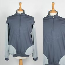 VINTAGE NIKE TRACKSUIT TOP JACKET 80'S QUARTER ZIP PULLOVER OREGON USA GREY XL