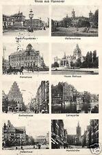 9884/ Foto AK,  Gruss aus Hannover, 8-Bildkarte, 1914