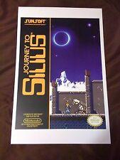 Journey to Silius 11x17 Box Art Poster - Nintendo NES No Game Sunsoft -