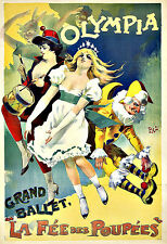 Art Ad Olympia Grand Ballet   Deco Poster Print