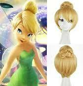 Disneys Tinkerbell deluxe wig + cap ladies adult