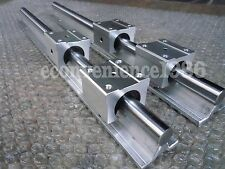 2 xSBR25-1625mm 25MM FULLY SUPPORTED LINEAR RAIL SHAFT& 4SBR25UU Rounter Bearing