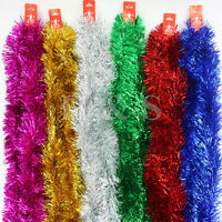7ft (2.15m) Deluxe Chunky Christmas Tinsel Tree Decoration 6 Colour - 100mm wide