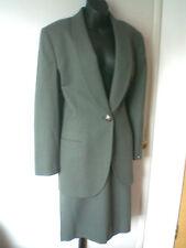 Christian Dior NWOT olive green 100% wool skirt & jacket set suit size 12/LNWOT