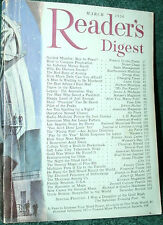 READER'S DIGEST 1956 MARCH GUIDED MISSILES;TIGER;PREEMIE;LA;GOLD;PIUS XII;MAPS