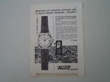 advertising Pubblicità 1958 OROLOGIO TISSOT VISODATE