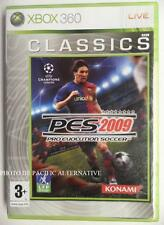 jeu PRO EVOLUTION SOCCER pes 2009 sur xbox 360 game francais foot ball juego TBE