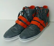 VLADO KNIGHT 2 Gray Orange Leather Hightop Sneakers Shoes Mens Size 13