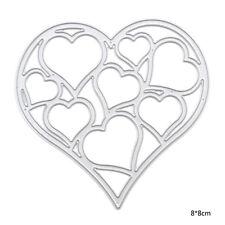 Metallo Fustella Cava Cuore Stampo FAI DA TE Decorativo Scrapbooking Amante