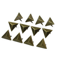 100Pcs Metal Triangle Rivets Studs Spots for Decorating Bags Shoes Clothing Diy
