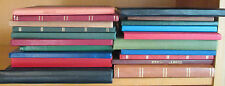BOX CONTAINING 22 x MID FORMAT  STOCKBOOKS - USED CONDITION - MANY WITH STAMPS
