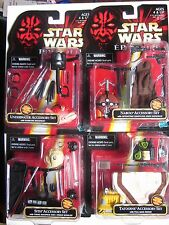 4 STAR WARS ACCESSORY SETS ( EPISODE-1/Tatooine/Naboo/Sith/Underwater) NEW/1998!