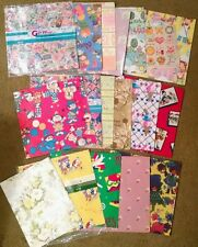 Vintage gift wrap wrapping paper sheets lot