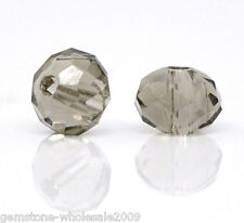200PCS Wholesale Lots Crystal Glass Faceted Rondelle Spacer Beads 4mm GW