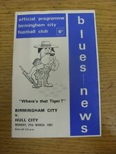 27/03/1967 Birmingham City v Hull City  (stained, team changes). Thanks for view