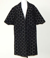 MARNI for H&M Black Gray Polka Dot Open Front Long Jacket Coat Sz - 2