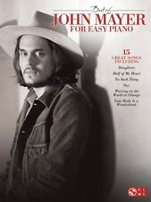 Best of John Mayer for Easy Piano Sheet Music Book NEW 002501705