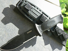 Gerber Prodigy Black Tactical Knife + Sheath USA +01121 Full Tang U.S. 420HC