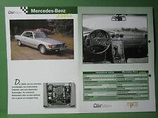 Mercedes Benz 350 SL - Datenblatt Car-Collection vom delPrado Verlag