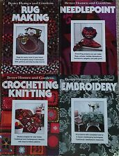 CRAFT BOOKS CROCHET EMBROIDERY NEEDLEPOINT RUGS 4 VINTAGE BETTER HOMES & GARDENS