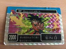 Carte Dragon Ball Z DBZ PP Card Part 04 #127 Prisme AMADA 1989 MADE IN JAPAN