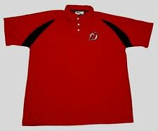 New Jersey Devils Polo Shirt 3Xl Tall Red Embroidered Logo Lee Sports NHL 3XLT