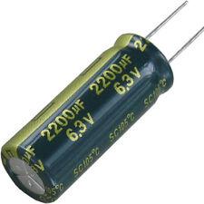 6 St Yageo lESR Elko Elektrolytkondensator Kondensator 2200µF 6,3V 2200 2200uF