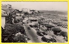 cpsm ARCACHON (Gironde) Bd Promenade et JETÉE THIERS Automobiles Plage