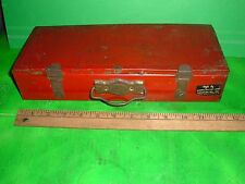 vtg antique american toy & furniture co childs tool box 1940s - 1950s tin metal