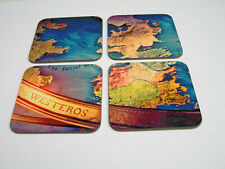 Westeros Map Game of Thrones Drinks COASTER Set