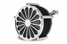 "DNA CHROME ""SS2"" AIR CLEANER FILTER KIT CV CARB OR FUEL INJECTION HARLEY"