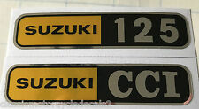 SUZUKI T125 STINGER SIDE PANEL DECALS X 2