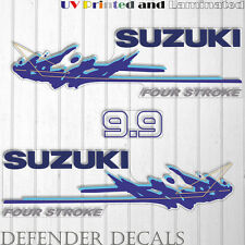Suzuki 9.9 hp four stroke outboard engine decal sticker set kit reproduction