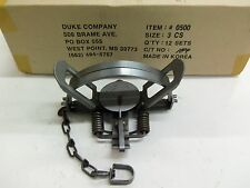 1 Duke # 3 Coil Spring Traps  Beaver Fox Bobcat Coyote  Trapping 0500