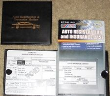 Sterling Auto Truck Registration Insurance Document Holder Wallet Black Case NWT