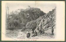ALFEDENA (Aquila). Castello e ponte di fresche sul Sangro.
