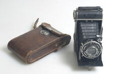ART DECO FOLDING CAMERA WITH CASE AND SHUTTER RELEASE