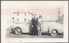 Vintage Car Photo Man & Pretty Girl 1939 Mercury Convertible 753360