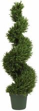 Nearly Natural 5170 Rosemary Spiral Silk Tree- 4-Feet- Green NEW