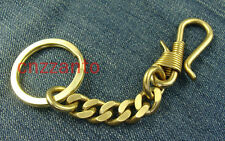 Handmade Solid Brass S shaped key chain ring holder hook clip collectable